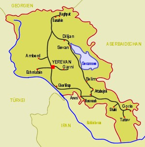 Armenien Karte.Armenien
